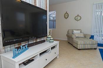 "Living Area with 55"" TV"